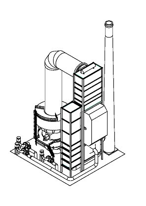 焚烧炉结构尺寸是根据火焰几何学设计而成